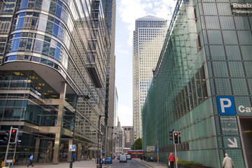 Morning in Canary Wharf, London, Banking aria