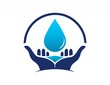 global hands water drop logo symbol icon - 66084197