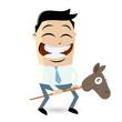 spielzeug pferd cartoon männchen lustig