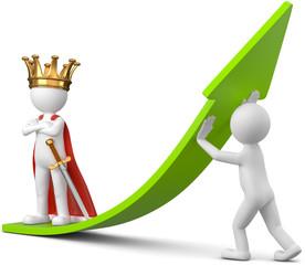 König und sein Sklave Arbeiter