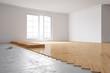 Parkett verlegen in neuer Wohnung - 66084375
