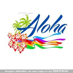 illustrations, aloha, hawaii, leaves, hibiscus, floral