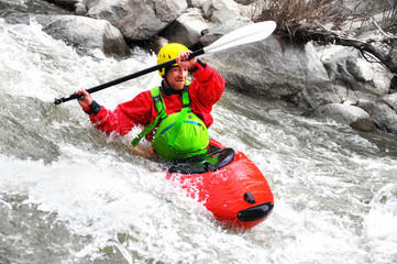 Kayaking as extreme and fun sport