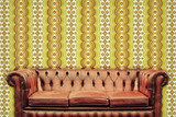 Retro styled image of an old chesterfield sofa