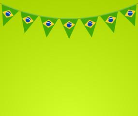 Wimpel Brasilien grün