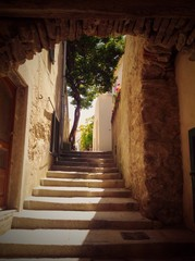 picturesque stairs in Sant'Ilario, Elba island