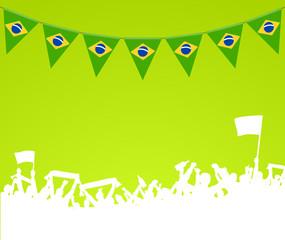 Brasilien Wimpel Fans