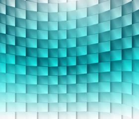 Colorful square blue ligh