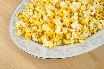 Platter of popcorn