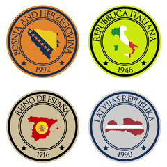Vector Country Emblems