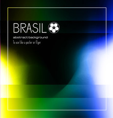 Brasil soccer abstract background for poster