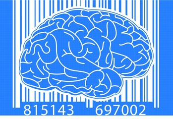 Brain with barcode (blueprint)