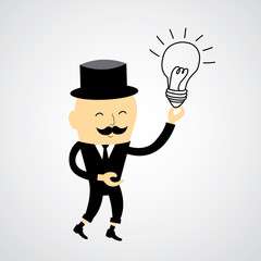 businessman and bulb idea