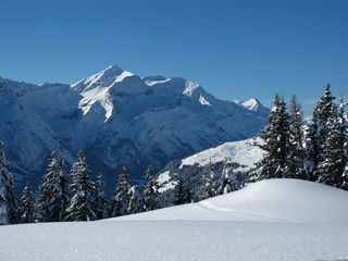 Beautiful winter scenery in the Bernese Oberland