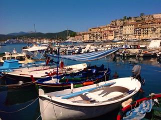 old harbor in Portoferraio, Elba island