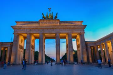 Brandenburg gate at night, Berlin