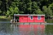 Leinwanddruck Bild - Hausboot im Park Babelsberg
