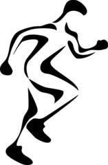 stylized runner