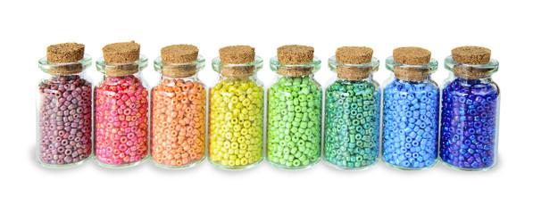 Multicolored beads