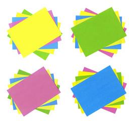 Multicolored cards