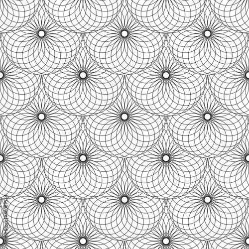 Seamless texture with circle scales elements.