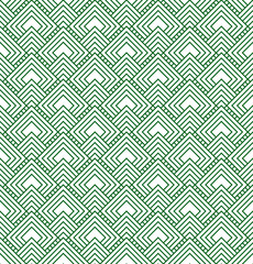 Green and White Diamonds Tiles Pattern Repeat Background