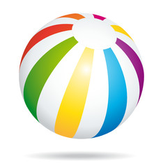 Summer beach ball icon.