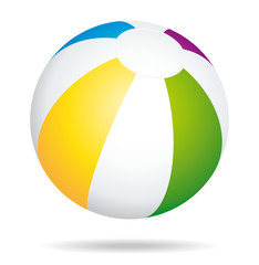 Colorful beach ball icon.