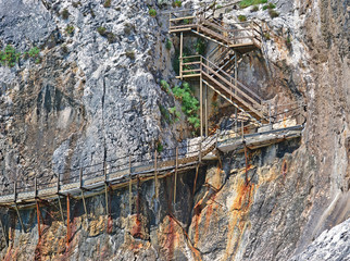 stairs on the cliff