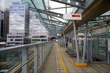 London, DLR station Canary Wharf