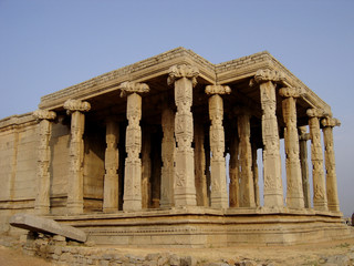 Architectural ruins of the ancient Vijayanagara empire