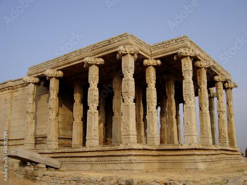Architectural ruins of the ancient Vijayanagara empire