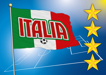 italian soccer football flag