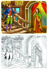 Coloring page -  fairy tale - illustration for the children