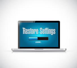 computer restore settings bar illustration design