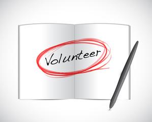 volunteer book illustration design