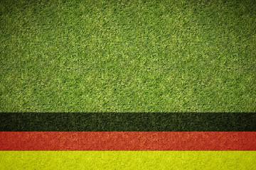 Spielfeld mit Deutschlandfahne