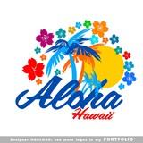 Fototapety illustrations, aloha, hawaii, leaves, hibiscus, floral