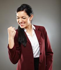 Successful latino businesswoman