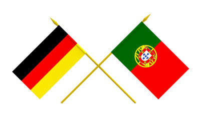 Flags, Germany and Portugal