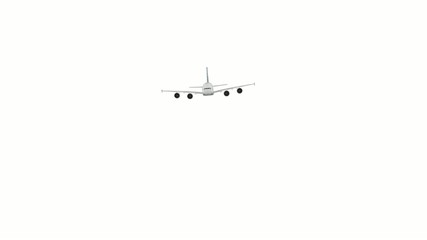 Airplane on White background With Alpha