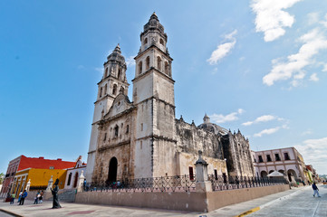 Cathedral de la Concepcion in Campeche, Mexico
