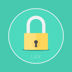 "Lock : Vector ""padlock"" icon flat design"