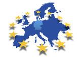 Fototapety Europa *** Karte EU-Deutschland