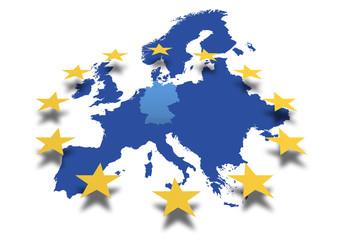 Europa *** Karte EU-Deutschland