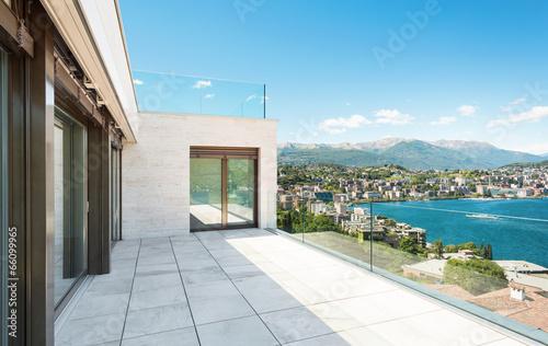 Beautiful balcony of modern building