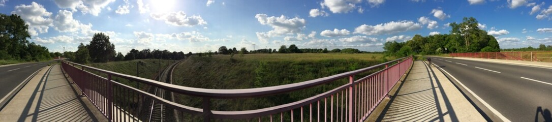 Panorama mit Gleis