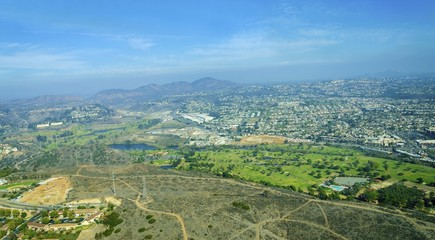 Aerial view of Mission Valley, San Diego