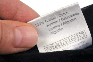 L'étiquette de vêtement