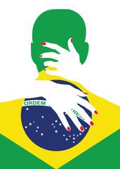 love Brazilian man kissing and hagging